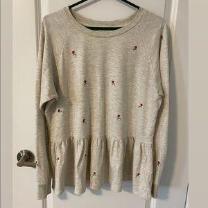 Anthropologie Peplum Sweater